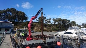 Pile Driving 12 Metre Piles and Finger Pier Installation East Fremantle Yacht Club