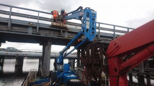 Garrett Road Bridge EWP Barge Inspection