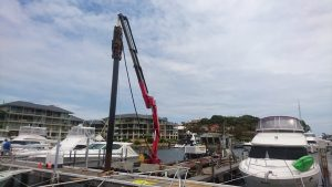 Pier 21 Marina  Jetty Maintenance  Driving 12 Metre Piles Through Existing Jetty